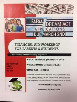 Financial Aid Workshop for Parents and Students
