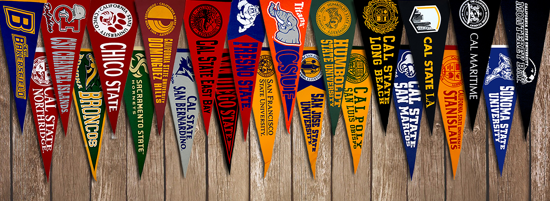 Cal State Universities Pennants