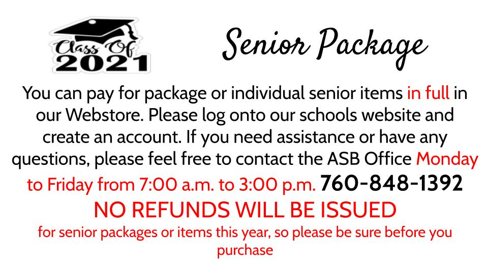 Senior Package Information